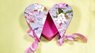 DIY Heart shaped gift box! Makeup organizer box in the shape of heart! DIY Christmas gifts.