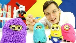 Игры с доктор Ой - Разноцветные Миньоны -  Видео для детей.