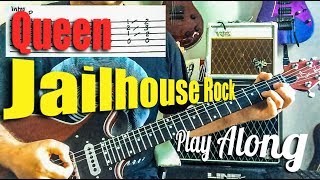 Queen - Jailhouse Rock - Live Montreal - Guitar Play Along with tabs