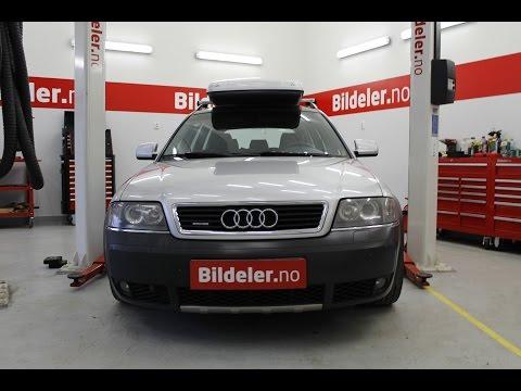 Audi A6 Allroad: Hvordan bytte luftbelg og støtdemper foran - 1999 til 2005 mod. (C5)