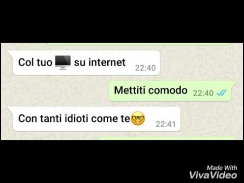 SON GLI HATERS IN ITALIA - TESTO WHATSAPP!