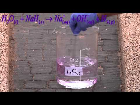 NaH + H2O Sodium Hydride And Water נתרן הידריד במים