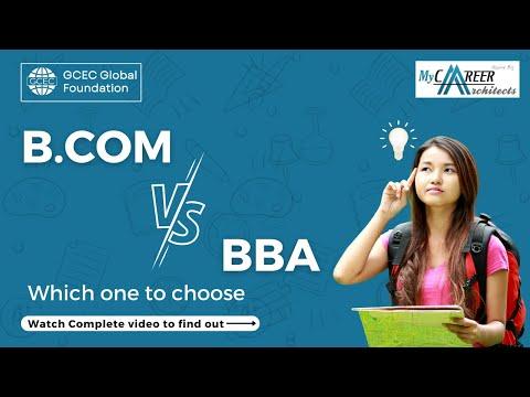 B.Com vs BBA- How to choose? - Paresh Gupta | My Career Architects