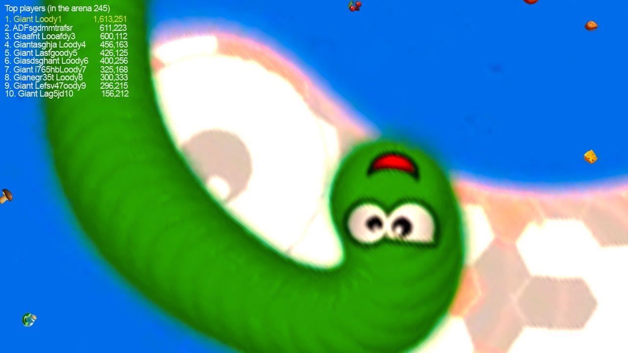 WormsZone.io Epic Slither Snake Moment 1,200,000+ Score Best Glitch Worms Zone io Gameplay