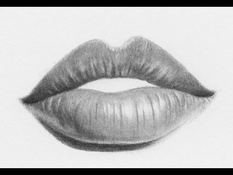 Easy way to draw realistic lips