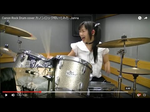 Canon Rock Drum cover- Junna  カノンロック叩いてみた