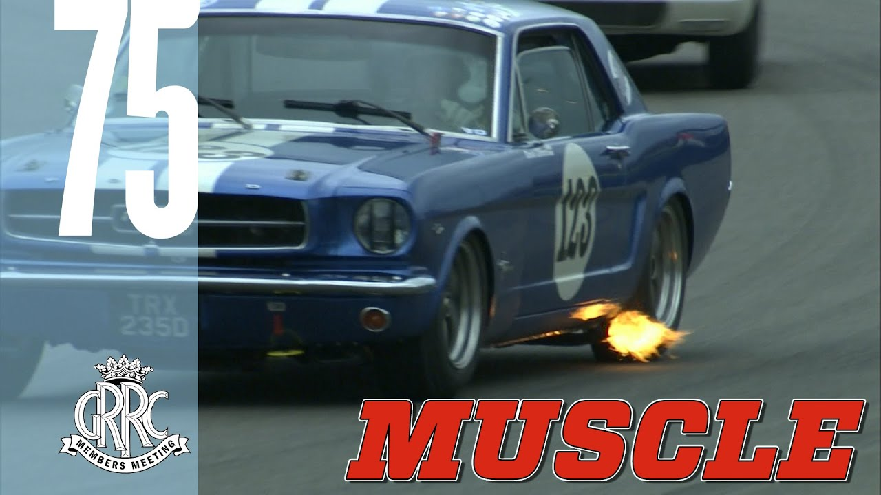 Fiery American Muscle Cars batter Goodwood - YouTube