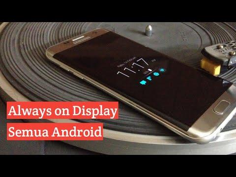 Cara Menampilkan Jam Disaat Layar Ponsel Mati Seperti Samsung Galaxy S7/S8/S9| AOD Always on Display