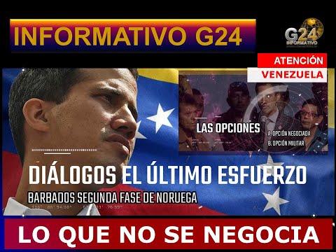 ATENCIÓN VENEZUELA -MADURO Y GUAIDÓ UN DIÁLOGO DE ESTRATEGIA Y ULTIMATUM-G24#BARBADOS
