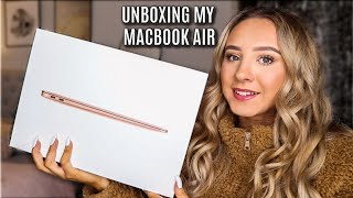 MACBOOK AIR UNBOXING & SETUP 2020 | Abi Forrester