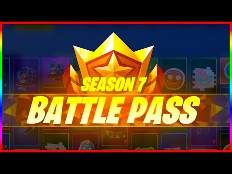 ALL SEASON 7 BATTLE PASS REWARDS | Fortnite Battle Royale