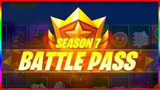 ALL SEASON 7 BATTLE PASS REWARDS | Fortnite Battle Royale