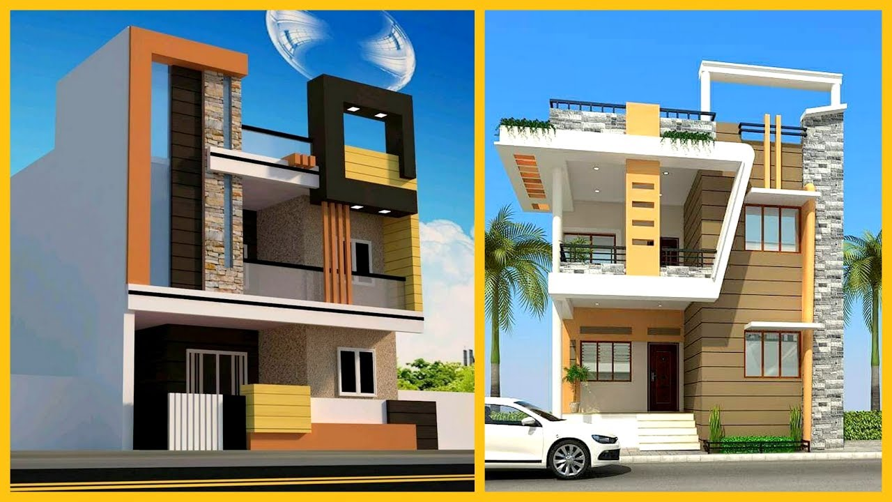 Latest Two Storey House Front Elevation | Two Floor House ...