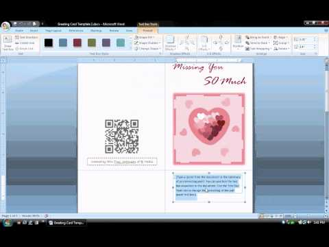 MS Word Tutorial (PART 1) - Greeting Card Template, Inserting and Formatting Text, Rotating Text