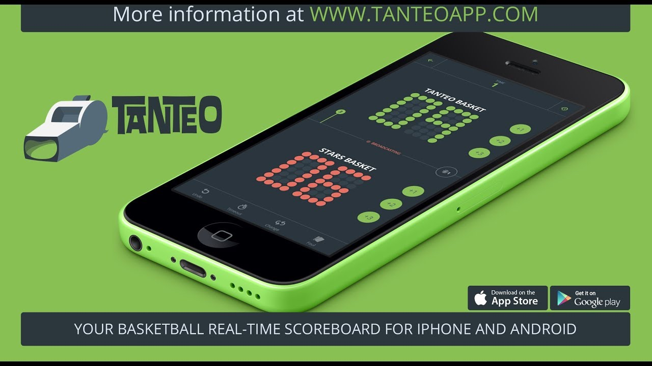 Tanteo · Your real-time scoreboard for iPhone and Android