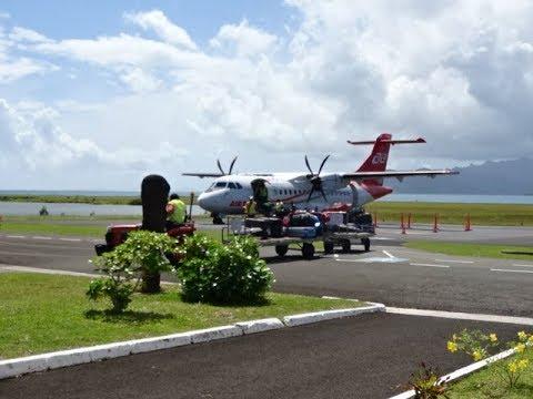 Air Tahiti ATR 72 Flight  - Tahiti to Raiatea Airport, French Polynesia