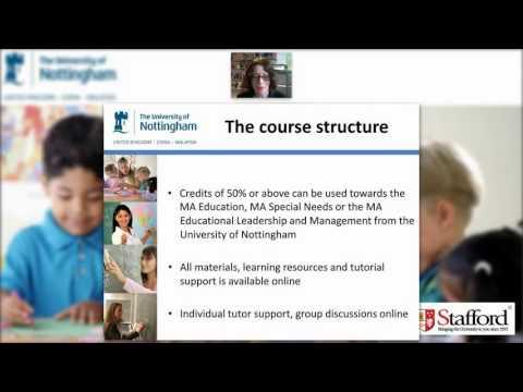 University of Nottingham PGCEi Webinar - June 15, 2016