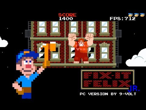 Fix-It Felix Jr- PC version by 9-Volt - Wreck-It Ralph games