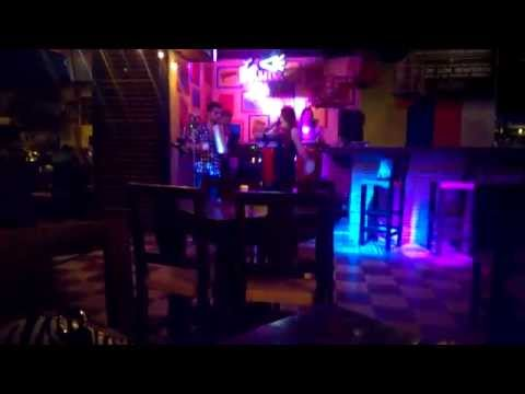 Live Music at a restaurant Parque Lleras Colombia