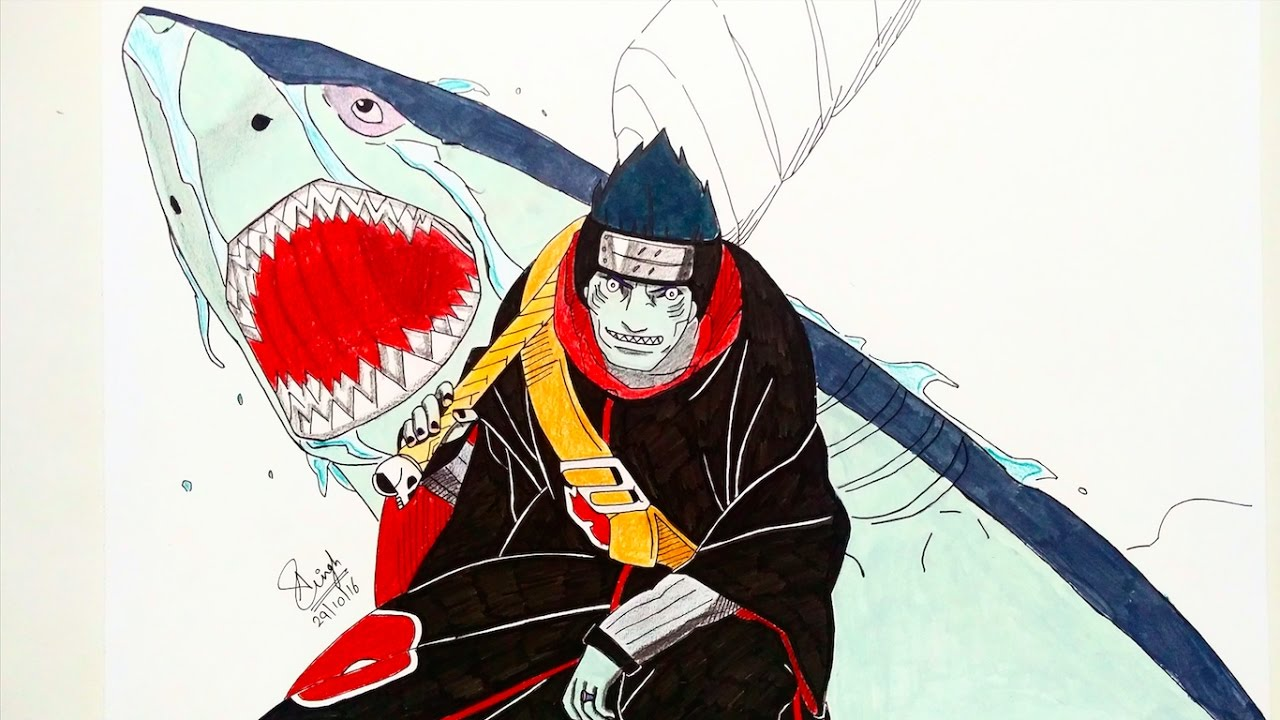 drawing kisame youtube