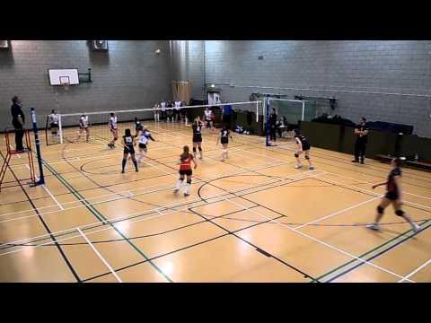 London Volleyball Women's Premier League Match: Lionhearts East vs Swiss Cottage. Set 2