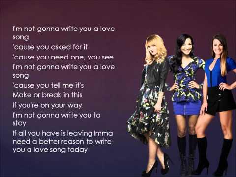 Glee - Love Song (Lyrics)