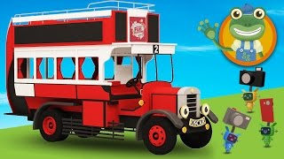 Oscar The Old Bus Visits Gecko's Garage | Bus Video For Children