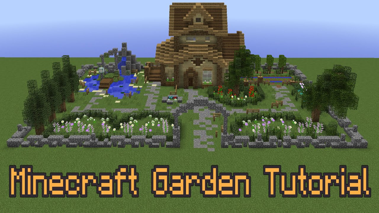 how to improve your minecraft garden youtube - Minecraft Garden Designs