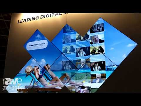 ISE 2014: easescreen Presents Its Media Wall and Interface for Easy Setup