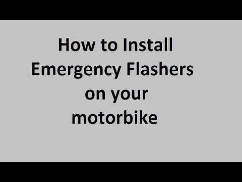 tutorial - how to install emergency flashers on your motorcycle