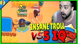 INSANE TROLL vs 5 IQ en BRAWL STARS - Reaccionando a FUNNY MOMENTS