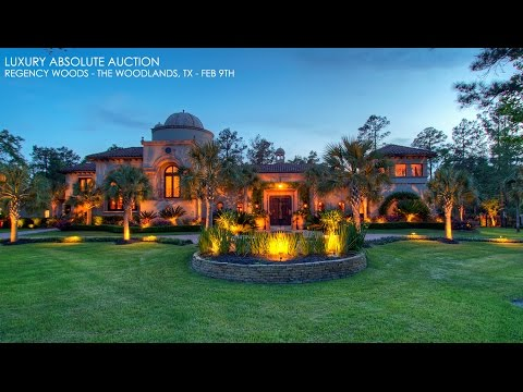 The Woodlands Texas Mediterranean Mansion For Sale | Golf Property