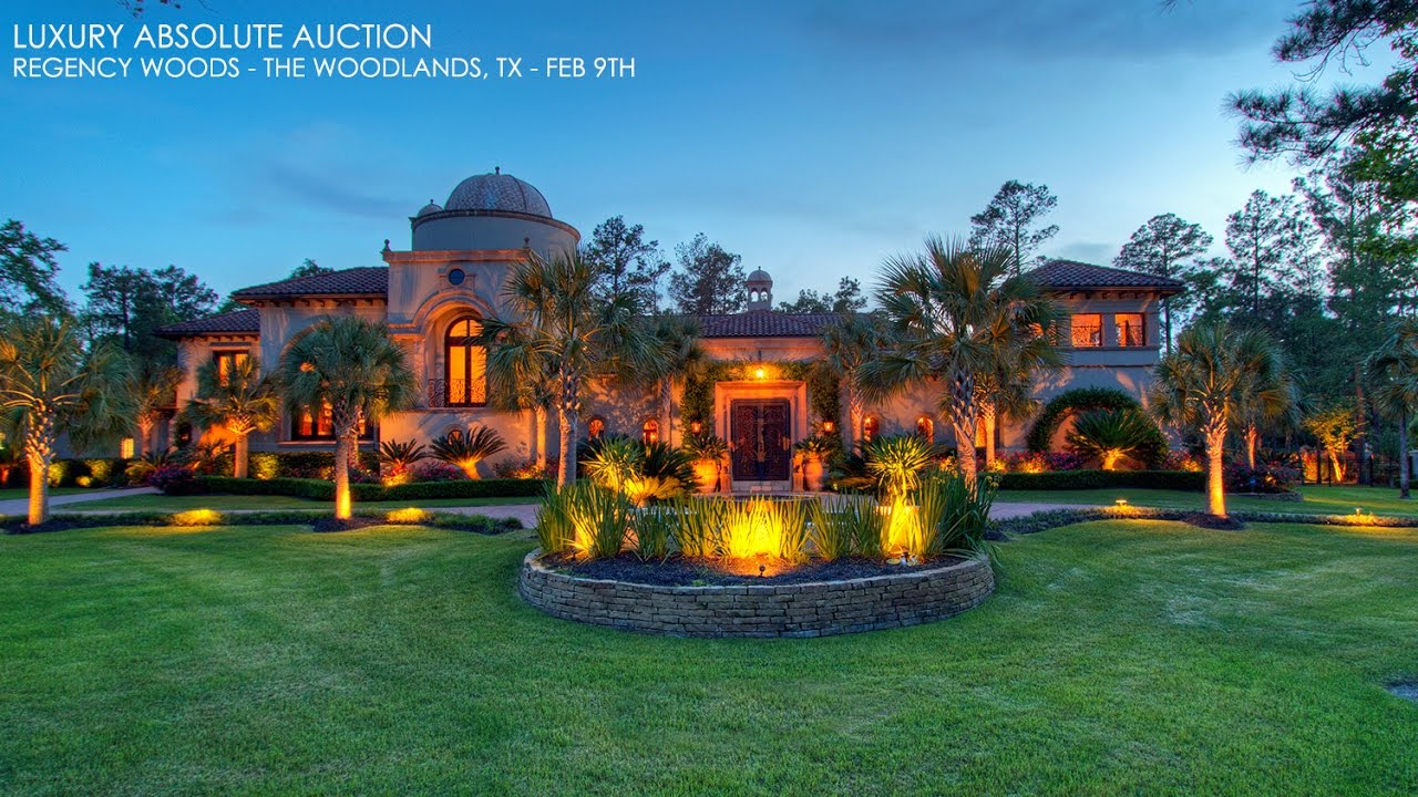 The Woodlands Texas Mediterranean Mansion For Sale Golf