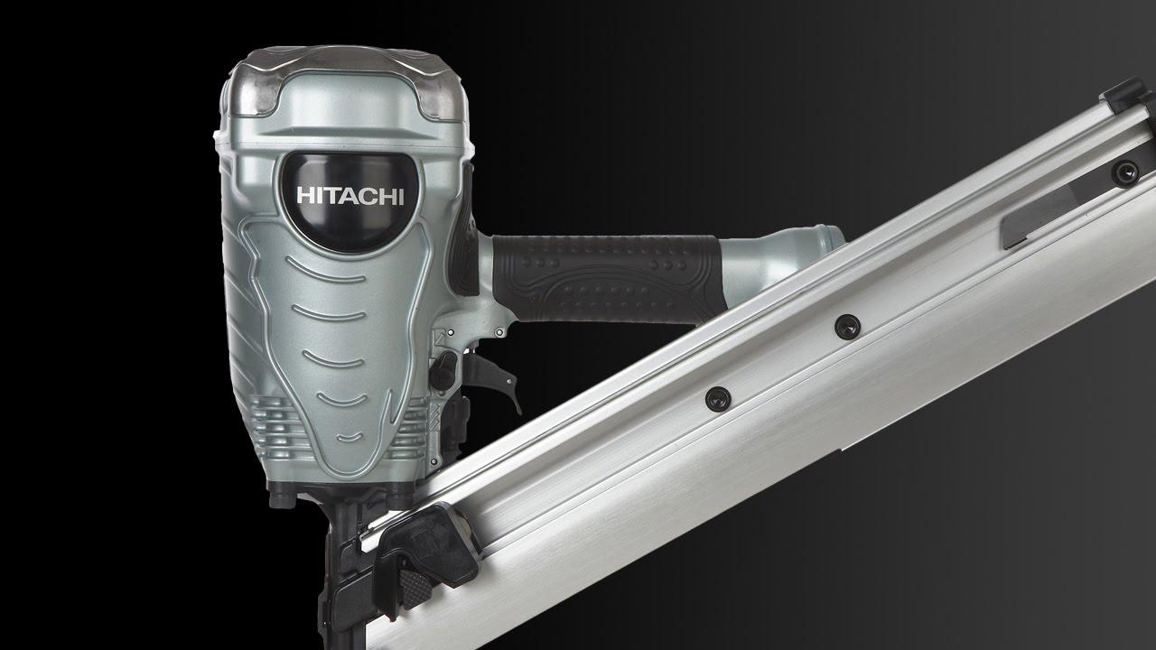 Hitachi 35 Degree 3-1/2-in Clipped Head Framing Nailer - NR90ADPR ...