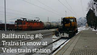 Railfanning #8 Trains in snow at Veles train station, Macedonia