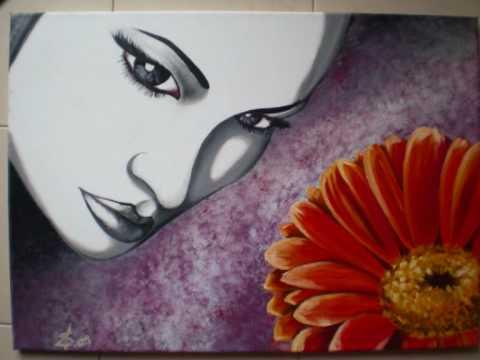 Come si crea un dipinto moderno con olio su tela - YouTube