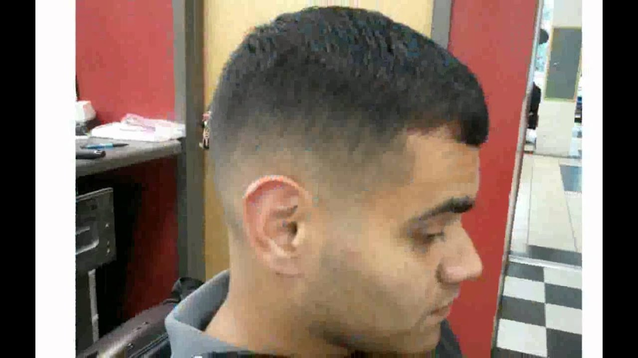 Drop Fade Haircut White Image