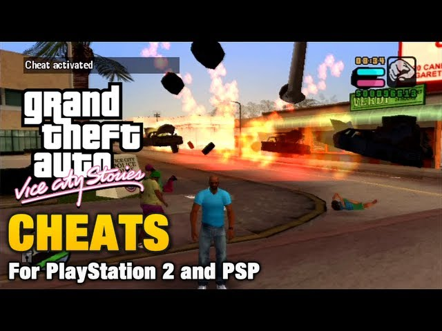 GTA Vice City Stories - Cheats Travel Video