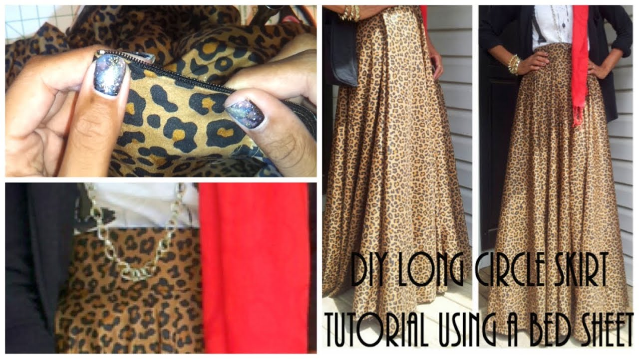 Nadira037 | DIY| Long Circle Skirt Tutorial Part 2 ...