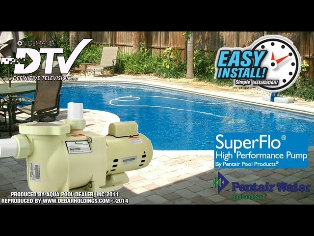 How To Replace or Install a new Pool Pump Pentair - SuperFlo - YouTube