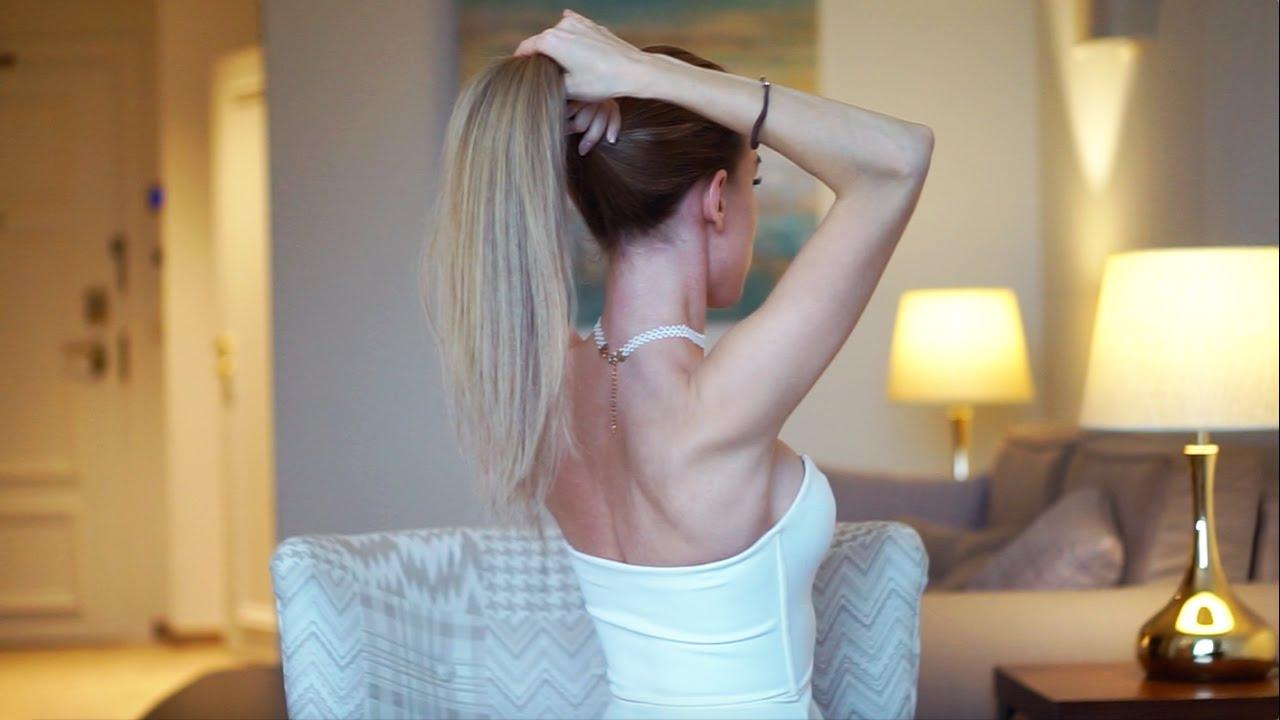 Как сделать из волос на заколках хвост