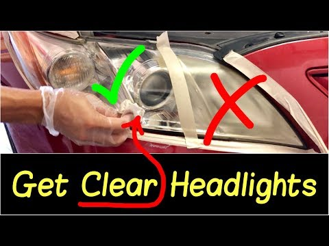 ✅How to Clean or Clear Foggy Hazy Headlights | Restore Headlights Fast in 5 Minutes HD Review