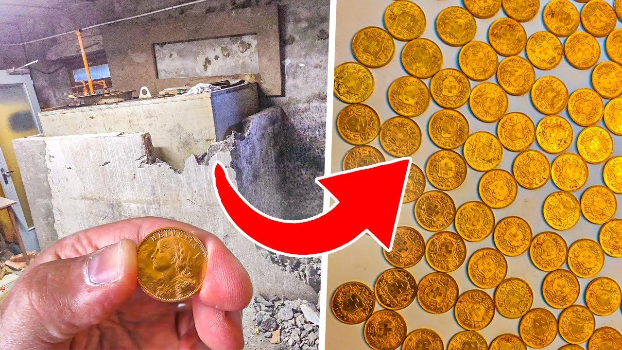 Нашли ТАЙНИК с Золотом во время ремонта дома! Клад ЗОЛОТЫХ монет был спрятан в куче угля!