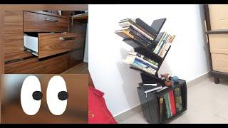 how I made a bookshelf using cabinet drawers