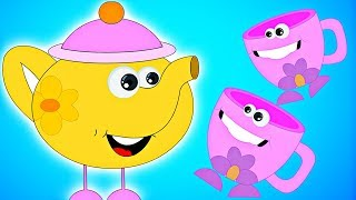Repeat youtube video I'm A Little Teapot | Nursery Rhymes by HooplaKidz