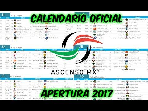 CALENDARIO COMPLETO de la liga de ASCENSO MX para el torneo APERTURA 2017