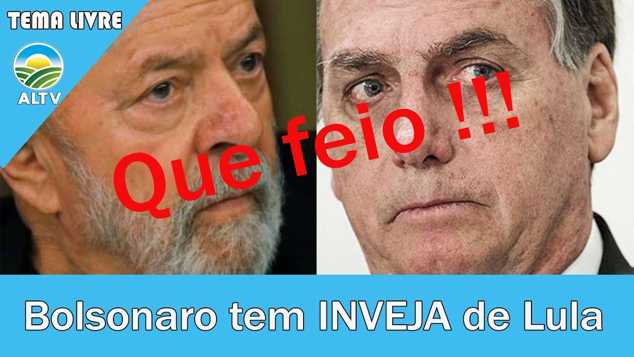 """URGENTE! Bolsonaro tem """"INVEJA' do que foi o governo de Lula"""
