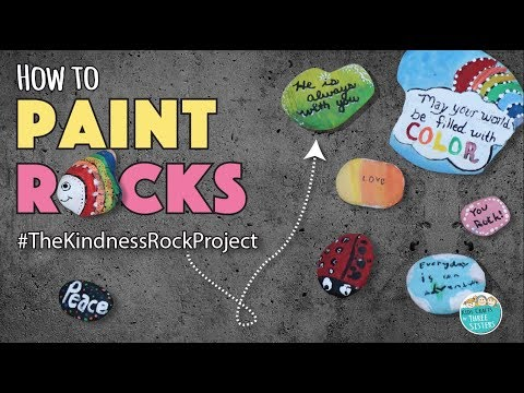 Diy how to paint rocks the kindness rocks project easy kids kidscraftsbythreesisters thekindnessrockproject solutioingenieria Gallery