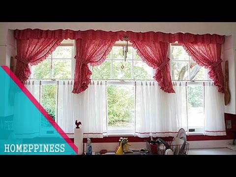 (MUST WATCH) 25+ Captivating Kitchen Curtain Ideas For Large Window
