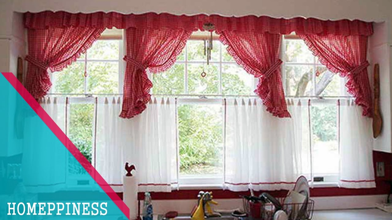 must watch 25 captivating kitchen curtain ideas for large window